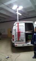 Осветительная мачта для автомобильных фургонов и контейнеров ОМА-2п