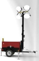 Осветительная мачта ДГУ GMM9M 12 кВт на автоприцепе с дизельным генератором