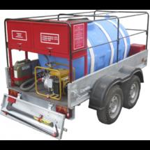 """Противопожарный автономный прицеп первой помощи """"Аргус"""" с системой огнеподавления, противопожарным инвентарем, встроенной мотопомпой, осветительной мачтой и электростанцией"""