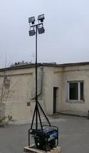 Телескопическая мачта освещения с LED прожекторами 50Вт