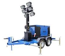 Осветительная мачта ДГУ АД-12С-Т400-1Р 12 кВт на автоприцепе с дизельным генератором