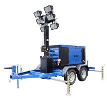 Осветительная мачта на основе ДГУ АД-16С-Т400-1Р 9 метров на тракторном прицепе с дизельным генератором
