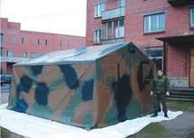 ПКС-20 каркасная палатка двухскатная