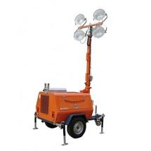 Осветительная мачта передвижная прожекторная на прицепе с генератором