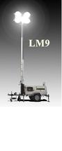 Передвижная мобильная осветительная установка в корпусе Tower на базе двигателя Kubota с ручной мачтой LM9-E1400 BaiFa