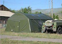 Пневмокаркасный модуль, надувная палатка МПМ-36