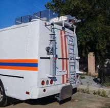 Мачта автомобильная осветительная для установки на кузов (КУНГ) МАО-5м(Л)-600Вт(ДНаТ)