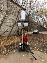 """Аренда мобильной осветительной мачты с встроенным бензиновым генератором """"Аргус-Маяк"""" с гибридным оголовником"""