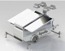 Мобильная световая башня на солнечных батареях
