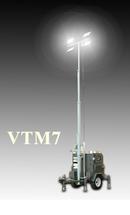 Передвижная мобильная осветительная установка в корпусе Tower на базе двигателя Kubota с ручной мачтой VTM7-E1400 BaiFa