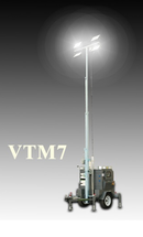 Передвижная мобильная осветительная установка в корпусе Tower на базе двигателя Kubota с ручной мачтой VTM7-G2000 BaiFa